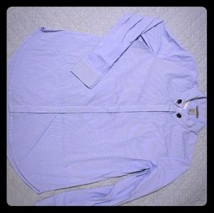 NWT H&M Blue Button Down Shirt with Jewel Bug.